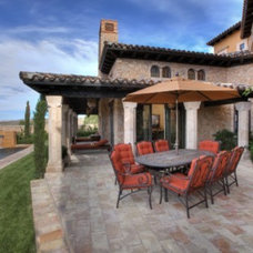 Mediterranean Exterior by Paddle Creek Design