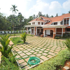 asian exterior Villa for Mr. Wilson--Designed by Ensemblee, India
