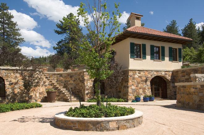 Mediterranean Exterior by DHR Architecture