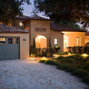 Example of a tuscan exterior home design in San Francisco