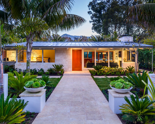 mid century modern home exterior