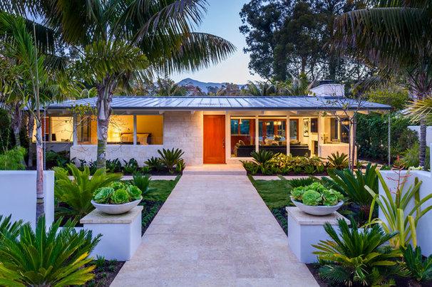 Midcentury Exterior by Allen Construction