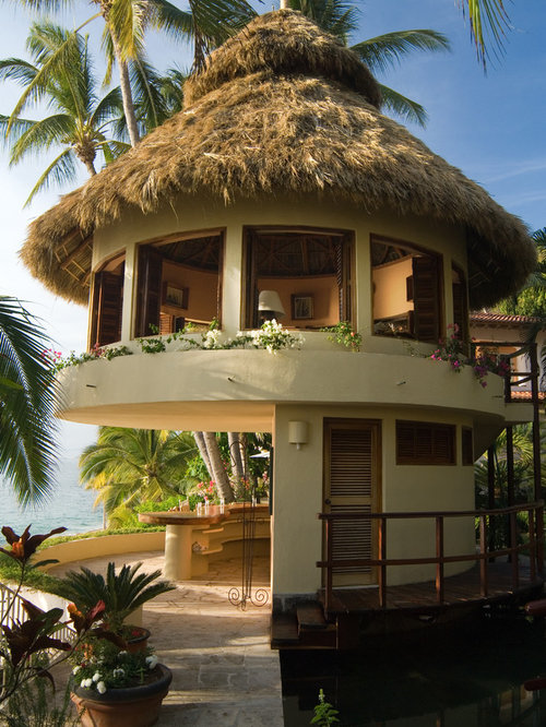 Nipa hut small designs houzz for Tropical home plans