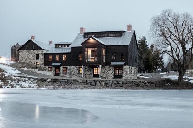 Farmhouse Exterior by KATE JOHNS AIA