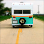 Vintage Caravan Or Travel Trailer Midcentury Family