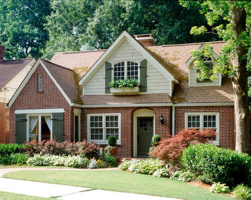 Cottage shutters exterior home design ideas pictures for Cottage style exterior shutters