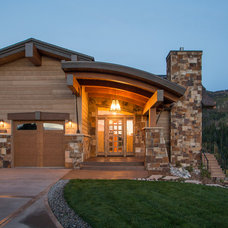 Rustic Exterior by Mountain Architecture Design Group pc
