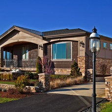 Mediterranean Exterior by Lakeville Homes