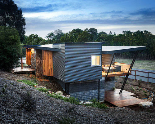 Split Roof Design: Split-Level Exterior Home Ideas & Design Photos