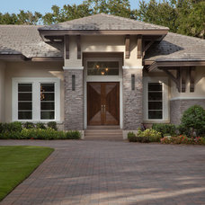 Transitional Exterior by Dave Brewer Homes