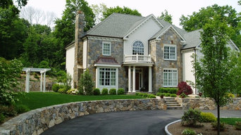 Waterfall, Spa Patio, Retaining Wall, Landscaping