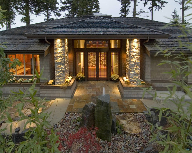 Contemporary Exterior by ONeill Group Inc.