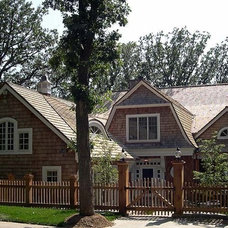 Traditional Exterior by Glennis Anderson Design