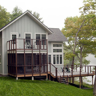 Elegant gray exterior home photo in Portland Maine