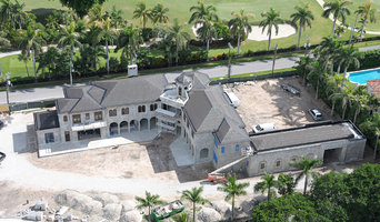 Waterfront with golf course backyard views Luxury estate Palm Beach