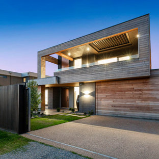 This is an example of a contemporary exterior in Melbourne.