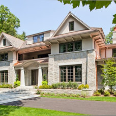 Transitional Exterior by Morehouse MacDonald & Associates, Inc. Architects