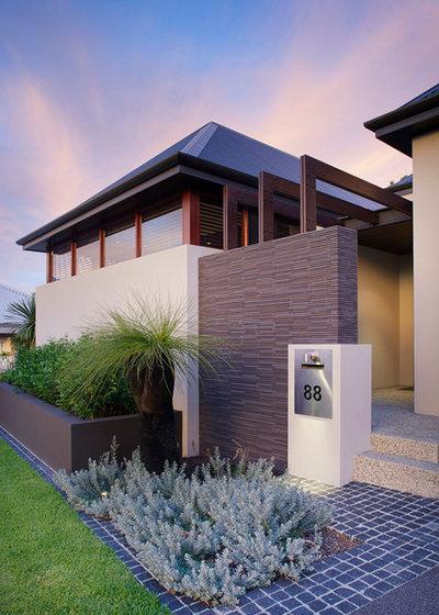 Contemporary Exterior by Yael K & Associates