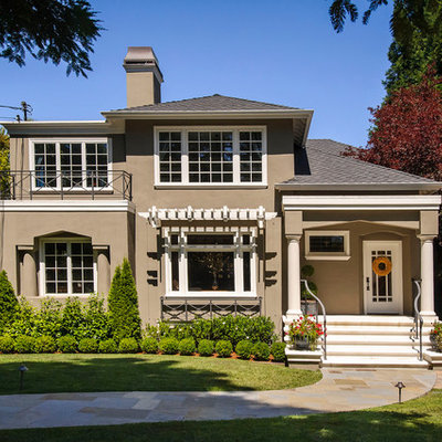 Inspiration for a timeless two-story exterior home remodel in San Francisco