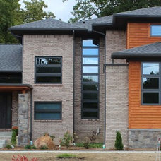 Contemporary Exterior by Baran Building Company Inc