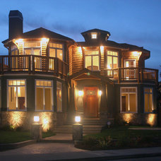 Traditional Exterior by Meschi Construction Inc.