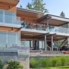 Contemporary Exterior by Wakefield Construction Inc.