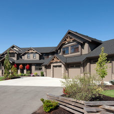 Transitional Exterior by Willson Design