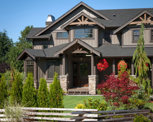 Timber bark hardie siding home design ideas pictures remodel and decor - Exterior painting vancouver property ...