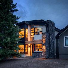Modern Exterior by Capstone Custom Homes