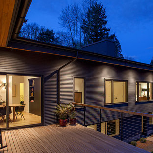 Trendy two-story exterior home photo in Portland