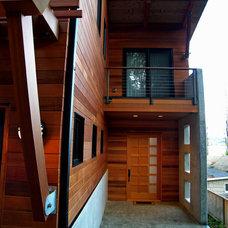 Contemporary Exterior by Great Northwest Door Company