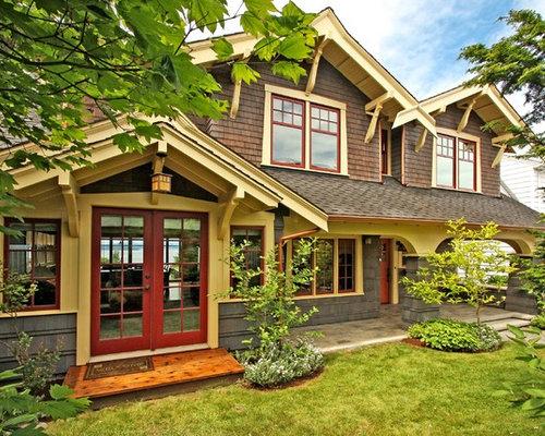 Craftsman window trim houzz for Craftsman exterior trim details