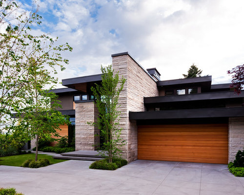 Exterior feature wall home design ideas renovations photos for Exterior features of a house