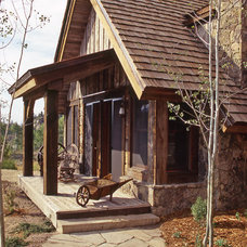 Rustic Exterior by Lynne Barton Bier - Home on the Range Interiors