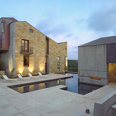 Contemporary Exterior by Four Corners Construction, L.P.