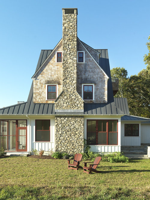 Charcoal metal roof houzz for Farmhouse metal roof