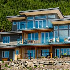 Contemporary Exterior by EuroLine Windows Inc.
