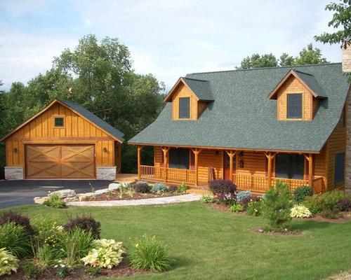 Craftsman log homes home design photos decor ideas for Craftsman log homes