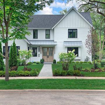 White Contemporary Farm House