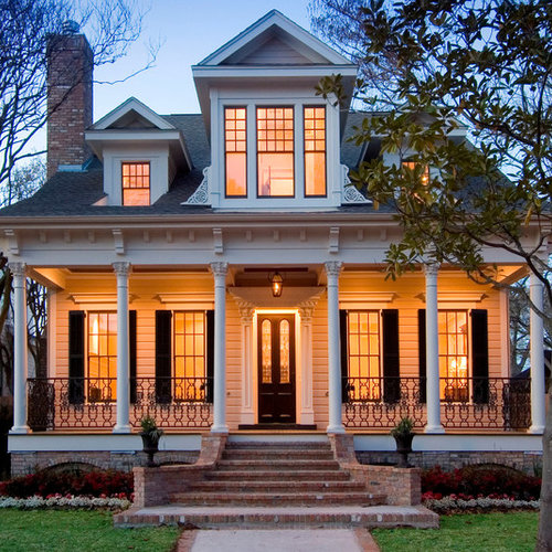 Decor Tips Outstanding Gabled Roof For Exterior Design: 75 Victorian Exterior With A Clipped Gable Roof Design