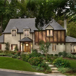 Example of a mountain style two-story exterior home design in DC Metro