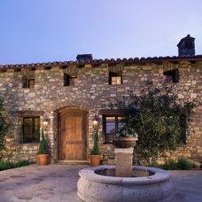 Mediterranean Exterior by Pacific Cornerstone Architects, Inc