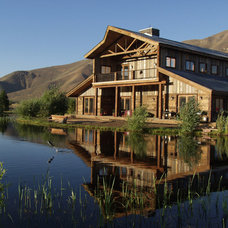 Traditional Exterior by Legends West Reclaimed Lumber