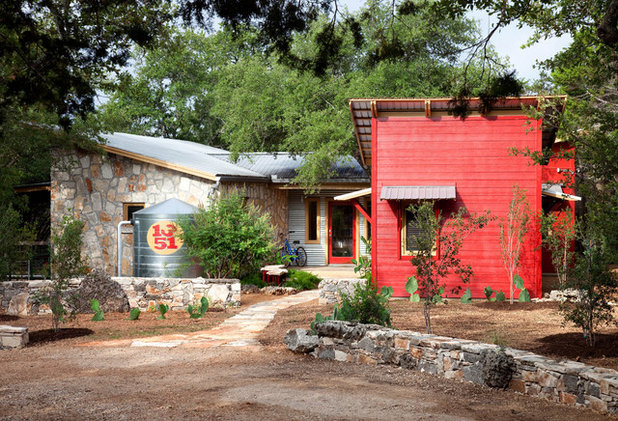 Rustic Exterior by B. Jane Gardens