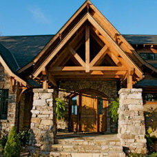 Traditional Exterior by Mountain Custom Homes Inc