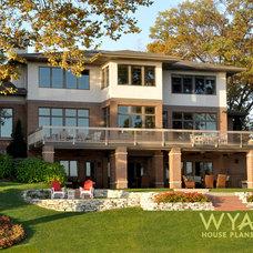 Traditional Exterior by Wyatt Drafting & Design