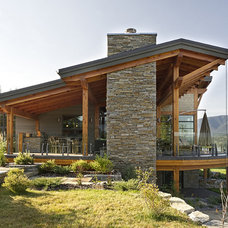 Rustic Exterior by site lines architecture inc.