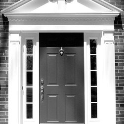 Windows and Doors - Custom built colonial front entry surround.