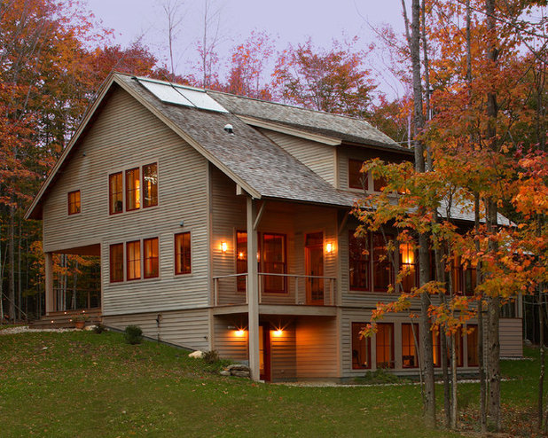 Rustic Exterior by Taggart Construction