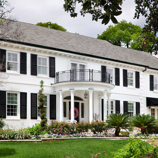 White House With Black Shutters Exterior Ideas Photos Houzz